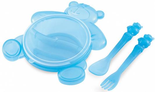 Набор для кормления Canpol Медвежонок 4 шт голубой от 6 месяцев 2/422