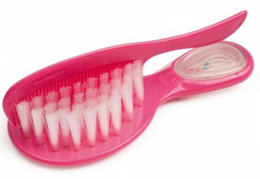 Купить Щетка с погремушкой и гребнем Canpol арт. 56/156, 0+ мес., цвет розовый, Детские ножницы и расчески