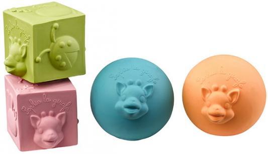 прорезыватели Игрушки-прорезыватели Vulli (Вулли) Кубики и мячики (натуральный каучук)