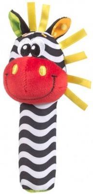 Погремушка-пищалка PLAYGRO Зебра 0183439 playgro игрушка для ванной книжка пищалка