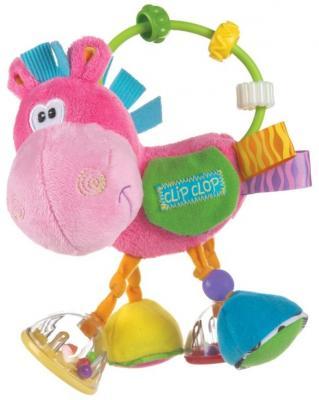 Купить Погремушка Playgro Ослик 0183303, розовый, для девочки, Погремушки и прорезыватели