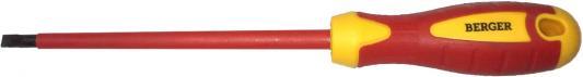 Отвертка BERGER BG1054 шлицевая 1.2x6.5x150мм диэлектрическая до 1000В отвертка berger bg1057 крестовая ph2x100 диэлектрическая до 1000в