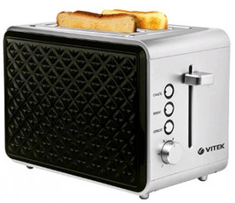 Тостер Vitek VT-7156 серебристый чёрный тостер vitek vt 7156
