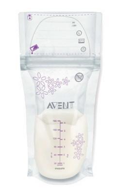Пакеты для хранения грудного молока Avent 180 мл, 25 шт. арт. 80250