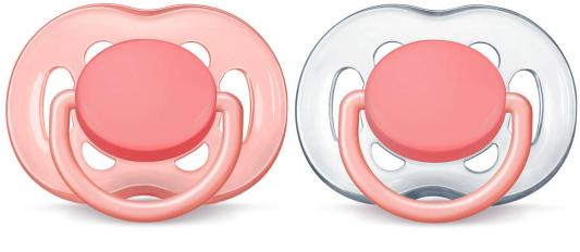 Пустышка Avent Freeflow 2 шт от 6 месяцев силикон розовый SCF178/28