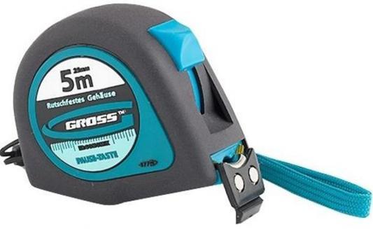 Рулетка GROSS 31103 ergonomisch 5м x 25мм магнитный обрезиненный зацеп цена
