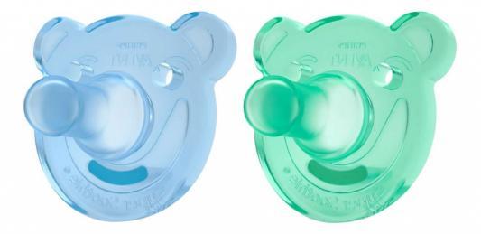 Купить Соска-пустышка с щитком Philips Avent Soothie Shapes силик., 0-3 мес., 2 шт., силикон, для девочки, для мальчика, Соски