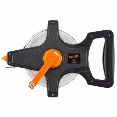 Рулетка SPARTA 314355 геодезическая 30 мх12.5мм лента пвх открытый корпус рулетка геодезическая sparta с закрытым корпусом