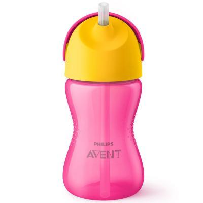 Контейнер Avent Чашка-поильник с трубочкой 1 шт розовый от 9 месяцев SCF798/02 чашка поильник avent 260 мл от 12 мес розовый