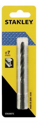 Сверло STANLEY STA50075-QZ Ф7x109x69мм по металлу HSS-R сверло stanley sta50045 qz