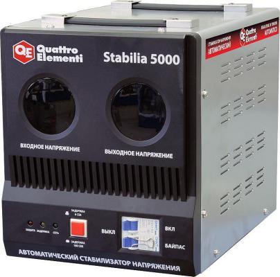 Стабилизатор QE Stabilia 5000 однофазный, цифровой 220В 5000ВА вх.:140-270В стабилизатор напряжения wester stb 5000 5000ва однофазный цифровой