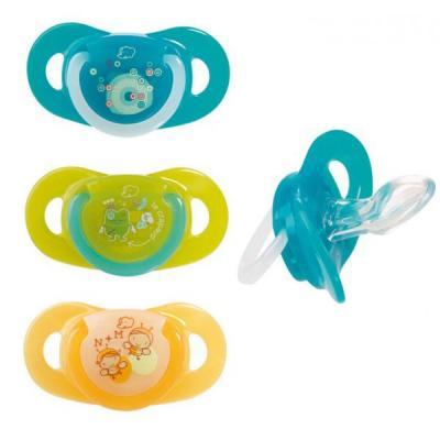 Купить Комплект из 2-х силиконовых пустышек Bebe Confort Physio Dummiies (с 0-6 мес.), для девочки, для мальчика, Пустышки