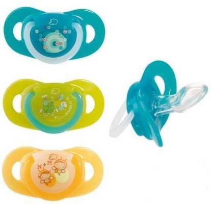 Комплект из двух латексных пустышек Bebe Confort серия Safe Dummlles с кольцом Т2 18 - 36 месяцев