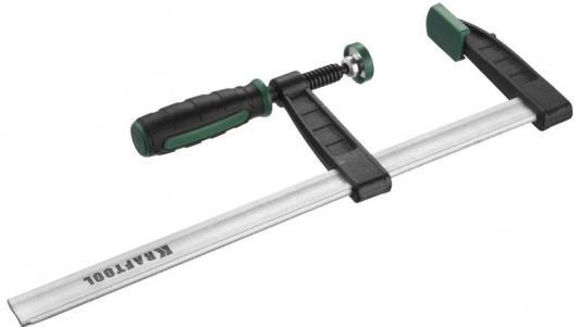 Струбцина KRAFTOOL 32011-120-800 тип F, DIN 5117, двухкомпонентная ручка, 120х800мм струбцина stayer 3210 120 1000 master тип f закаленная рейка деревянная ручка 120х1000мм