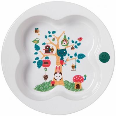 Купить Тарелка Bebe Confort Тарелка в форме лаврового листа 1 шт белый от 1 года 31000302, Детская посуда для кормления