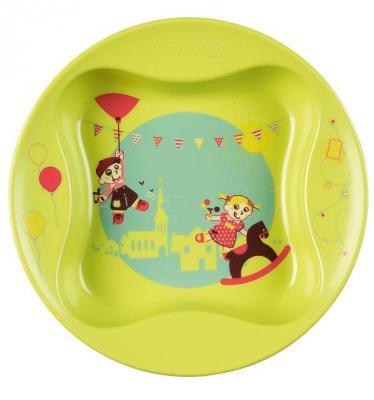 Купить Тарелка Bebe Confort Тарелка в форме лаврового листа 1 шт зеленый от 1 года 31000301, Детская посуда для кормления