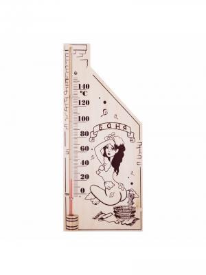 Термометр для сауны, основание - дерево 110х265 мм REXANT