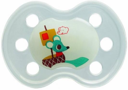 Пустышка ортодонтическая силиконовая ночная без кольца Bebe Confort стул для кормления bebe confort kaleo шоколад 27518190