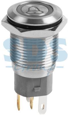 Кнопка антивандальная REXANT 36-3270 16 мм красный