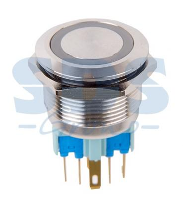 Кнопка антивандальная O22 250В Фикс (6с) ON-OFF/OFF-ON подсв/синяя REXANT