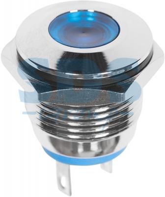 Индикатор металл O16 12В подсв/синяя LED REXANT