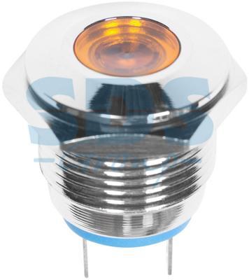 Индикатор металл O16 220В подсв/желтая LED REXANT
