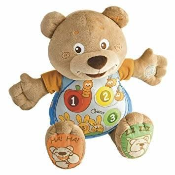 Интерактивная игрушка Chicco Говорящий Мишка Teddy от 6 месяцев chicco развивающая мягкая игрушка sweet love teddy с 3 мес