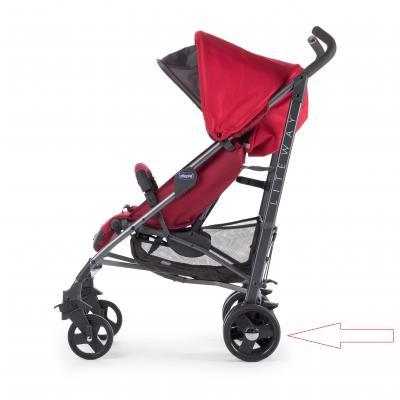 Купить Задние колеса к коляске Chicco LiteWay (тёмносерые) с тормозом, Запасные колеса