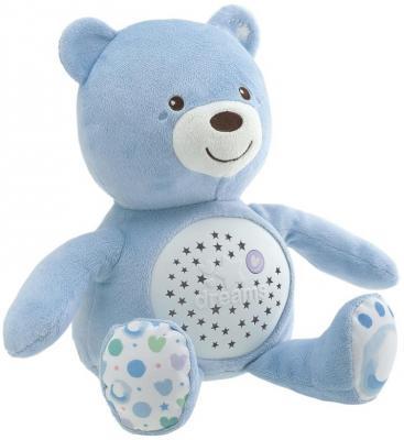 Интерактивная игрушка Chicco Мишка с рождения голубой 00008015200000 интерактивная игрушка chicco музыкальная лейка от 6 месяцев разноцветный 07700