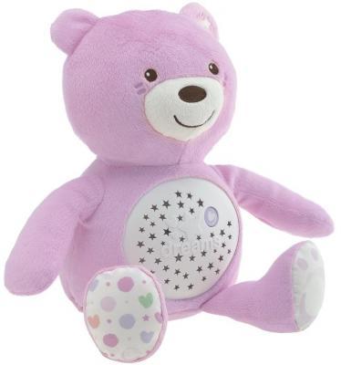 Интерактивная игрушка Chicco Мишка с рождения розовый 00008015100000 интерактивная игрушка chicco музыкальная лейка от 6 месяцев разноцветный 07700