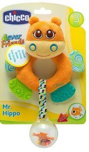 Игрушка-погремушка Chicco Бегемот Hippo chicco игрушка говорящий смартфон авс