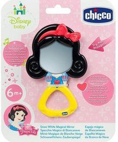 Купить Игрушка-погремушка Chicco Волшебное зеркальце Белоснежки (свет, звук), разноцветный, для девочки, Погремушки и прорезыватели