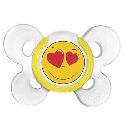 Пустышка Chicco Physio Comfort Smile, 1 шт., 0-6 мес., силикон 310210199 chicco eletta comfort silver