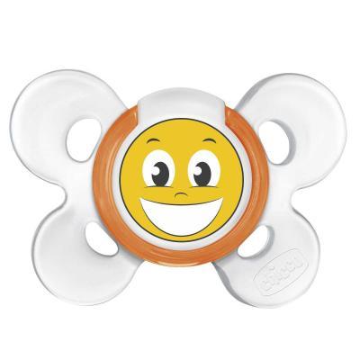Пустышка Chicco Physio Comfort Smile, 1 шт., 12 мес., сил. 310210201 chicco eletta comfort silver