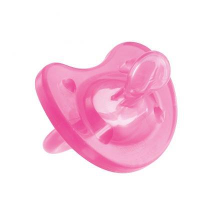 Пустышка Chicco Physio Soft, 1 шт., 0-6 мес., силикон, розовая, 310410151