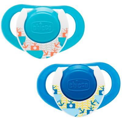 Пустышка ортодонтическая Chicco Physio Морская 2 шт от 12 месяцев силикон синий 310410130 антон чехов тапер