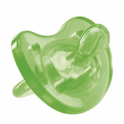 Пустышка Chicco Physio Soft силикон, 12+, 1 шт., цвет зеленый, 310410102 chicco пустышка physio soft силиконовая от 0 до 6 месяцев цвет зеленый