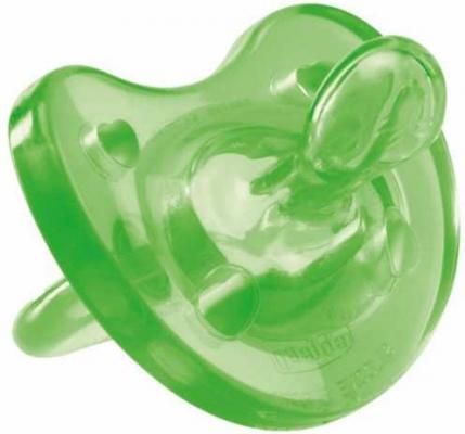 Пустышка Chicco Physio Soft 1 шт., 0-6 мес., силик., зеленый 310410142 авент пустышка силик ночная 6 18мес n2