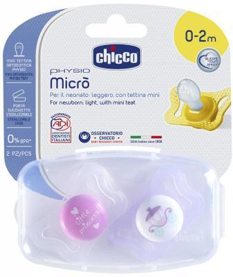 Пустышка Chicco Micro для принцессы 2 шт с рождения силикон 310210174 blue dazzle дизайн pu кожа флип обложка кошелек для карты памяти чехол для asus zenfone 3 zs570kl