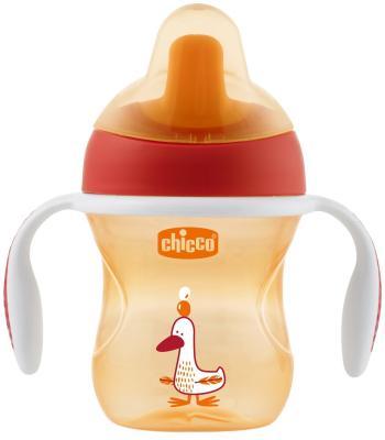Поильник Chicco Training Cup ( носик), 1 шт., 6 мес+, 200 мл, цвет красный, 340624119