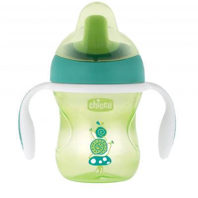 Поильник Chicco Training Cup ( носик), 1 шт., 6 мес+, 200 мл, цвет зеленый, 340624219