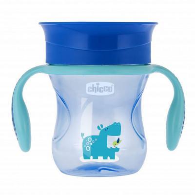 Чашка-поильник Chicco Perfect Cup (носик 360), 12 мес.+, 266 мл, цвет голубой lubby disney поильник медвежонок винни 6 мес 360 мл мягк носик клипса голубой