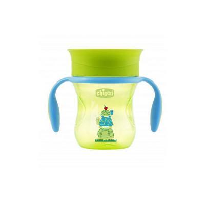 Чашка-поильник Chicco Perfect Cup (носик 360), 12 мес.+, 266 мл, цвет зеленый, рисунок черепашка термос super kristal sk 211