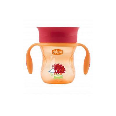Чашка-поильник Chicco Perfect Cup (носик 360), 12 мес.+, 266 мл, цвет красный, рисунок ёжик lubby disney поильник медвежонок винни 6 мес 360 мл мягк носик клипса голубой