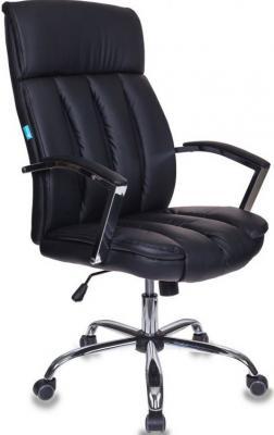 Кресло руководителя Бюрократ T-8000SL/BL+BLACK черный искусственная кожа крестовина хром цена и фото