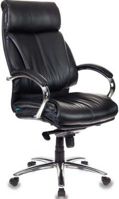 Картинка для Кресло руководителя Бюрократ T-9904SL/BLACK черный искусственная кожа крестовина хром