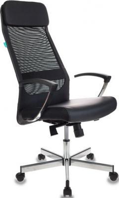 Кресло руководителя Бюрократ T-995SL/BLACK черный TW-01 искусст.кожа/сетка крестовина металл