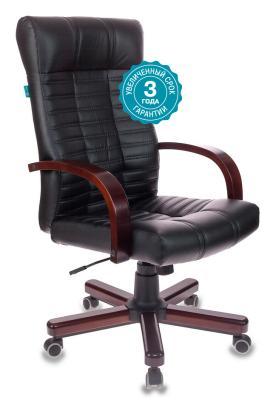Кресло руководителя Бюрократ KB-10/WALNUT черный искусственная кожа крестовина металл кресло руководителя бюрократ kb 8 красный