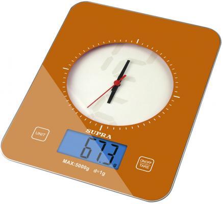 Весы кухонные электронные Supra BSS-4210 макс.вес:5кг оранжевый телефон supra stl 111 белый