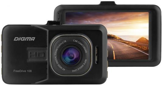 Видеорегистратор Digma FreeDrive 108 черный 1080x1920 1080p 140гр. NTK96223 видеорегистратор digma freedrive 108 dual